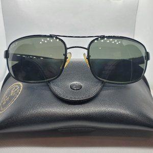 RAY-BAN RB3445 002/58 Black Pilot Sunglasses Frame